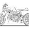 adult coloring motorcycle vector racer bike black contour sketch illustration isolated on coloring pages Motorcycle Coloring Page