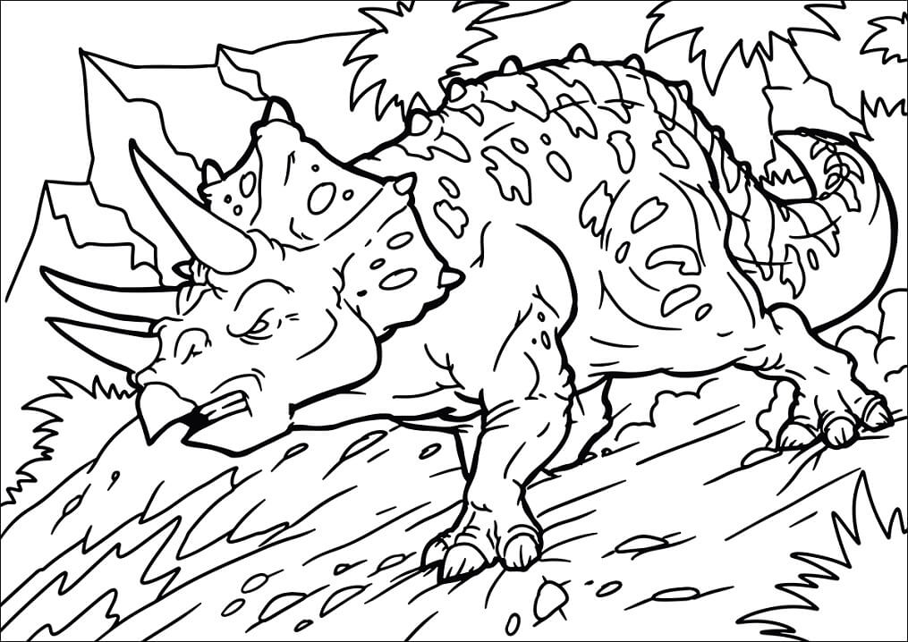 angry triceratops coloring free printable for kids better dry erase markers crayola art coloring pages Triceratops Coloring Page