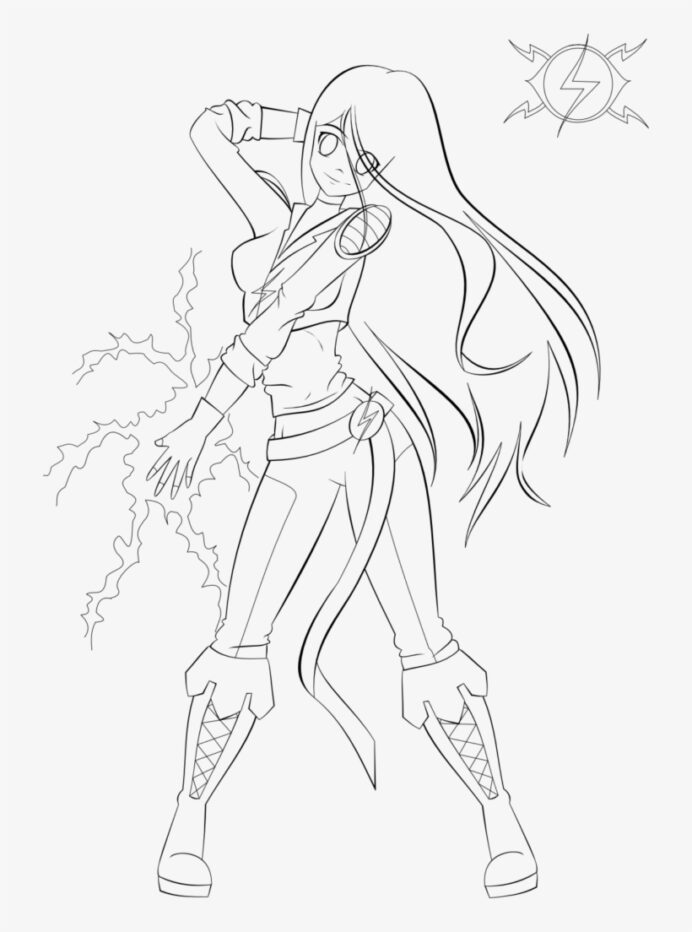 anime girl coloring warrior free transparent pngkey letters envelopes color by letter coloring pages Anime Coloring Page