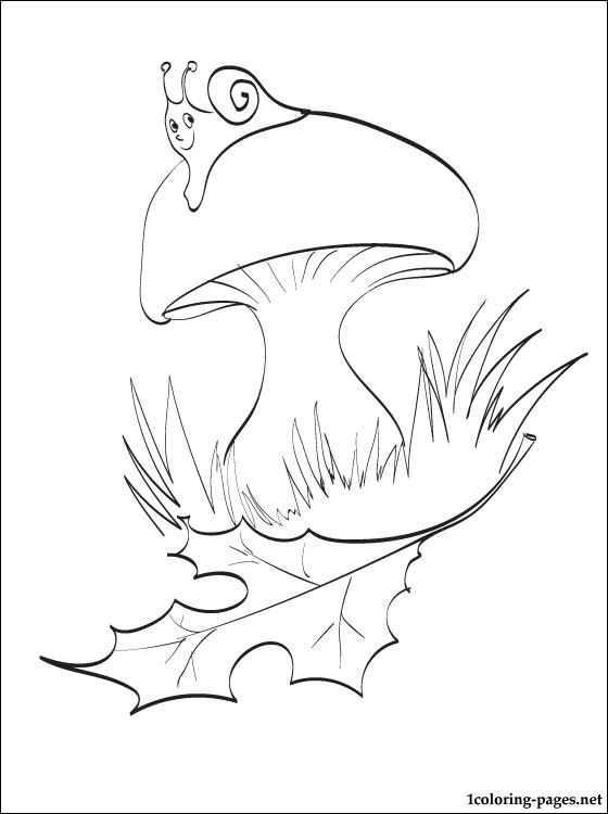 autumn mushroom coloring autumn6 paint by water books paper plate dinosaurs printable coloring pages Mushroom Coloring Page