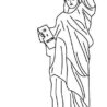 awesome statue of coloring print for free color nimbus double colored pencils birthday coloring pages Statue Of Liberty Coloring Page