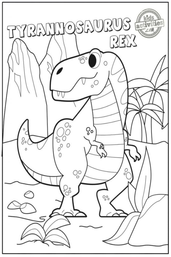 awesome tyrannosaurus rex coloring for kids and adults 683x1024 free halloween printable coloring pages T Rex Coloring Page