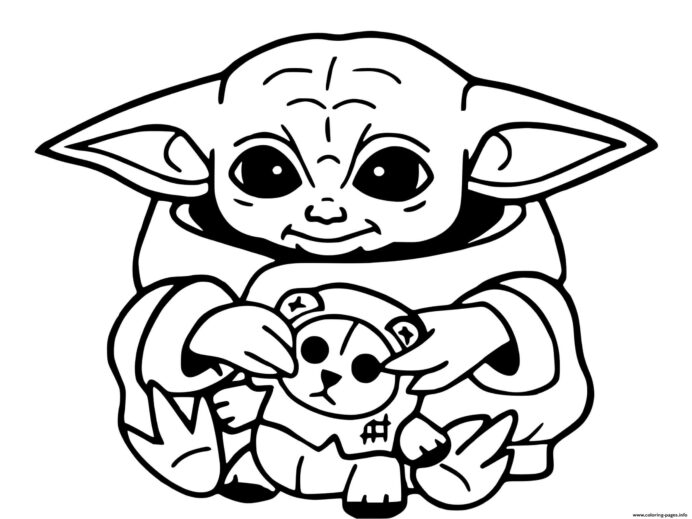 baby yoda mandalorian jedi temple coloring printable 1616078283baby recycled bird feeder coloring pages Yoda Coloring Page