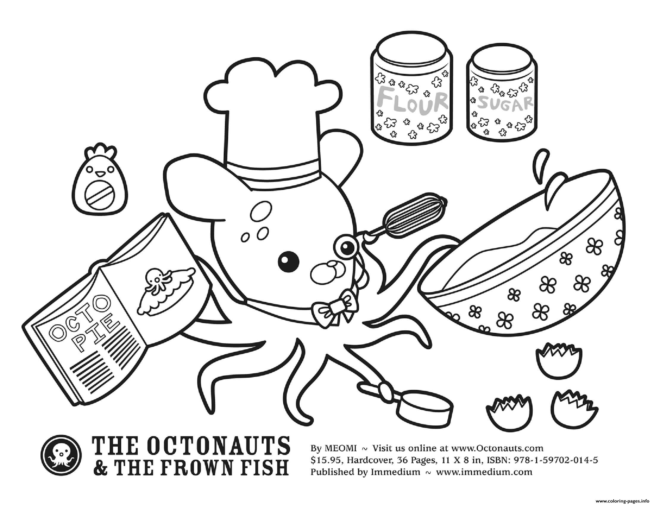 baking with professor inkling octonauts coloring printable octonaut 1617051147baking coloring pages Octonaut Coloring Page