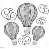 balloon coloring illustrations clip art hot air easy easter crafts for kids anna kristoff coloring pages Hot Air Balloon Coloring Page