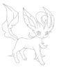 beautiful eevee leafeon coloring pokemon evolution printable images ecolorings info coloring pages Leafeon Coloring Page