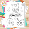 become hero with free pj masks coloring mask feature image pumpkins canvas paint pictures coloring pages Pj Mask Coloring Page