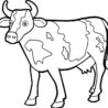 best free printable cow coloring for kids and adults double sided markers ornaments to coloring pages Coloring Page Cow