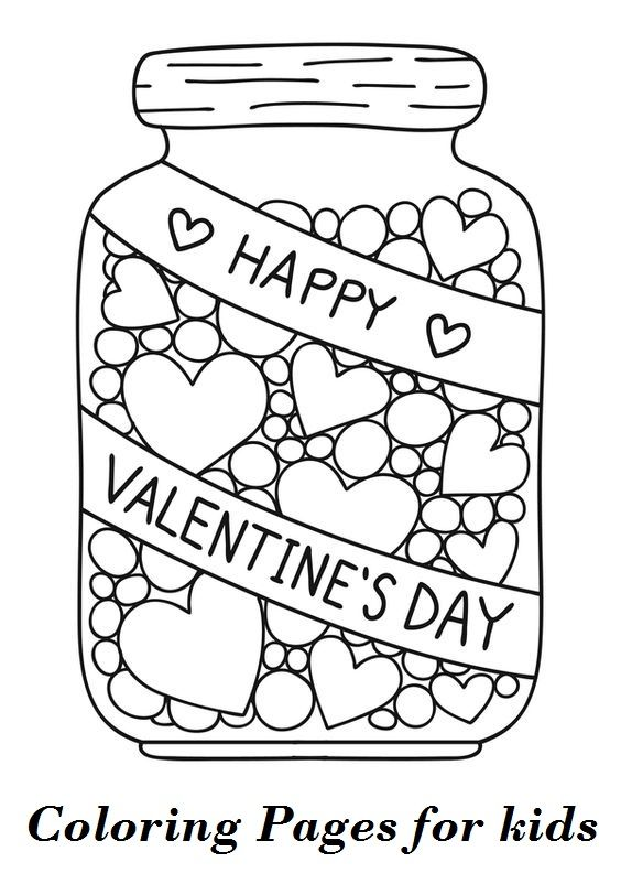 best free valentine coloring for your kids valentines printables printable cursive coloring pages Printable Valentine Coloring Page
