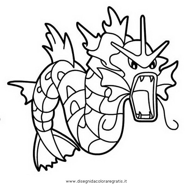 best ideas for coloring gyarados pokemon effle tower poage colot skin wheel easy easter coloring pages Gyarados Coloring Page