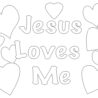 best ideas for coloring loves jesus kcjgprn6i amazing dilly bags skulls to color popsicle coloring pages Jesus Loves Me Coloring Page