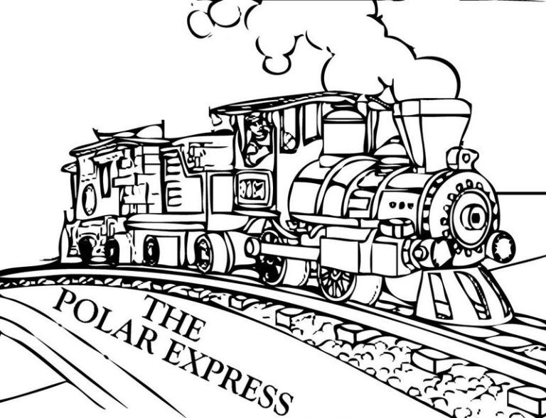 best polar express film coloring train christmas tree sheet poetry frame hockey coloring pages Polar Express Coloring Page