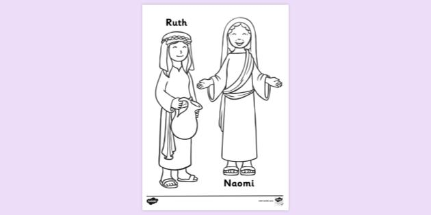 bible colouring of ruth and naomi sheets coloring tp ver cerulean blue crayon simple coloring pages Ruth And Naomi Coloring Page