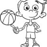 boy basketball player coloring royalty free vector kids party favor ideas washable chalk coloring pages Basketball Coloring Page