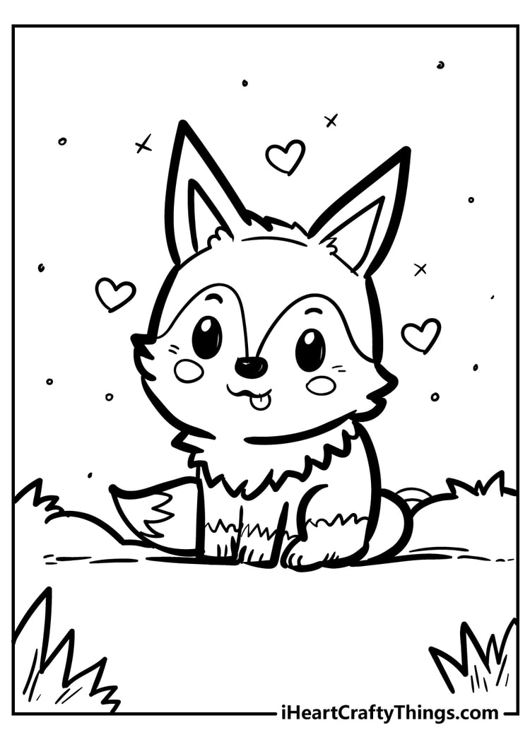 brand new fantastic fox coloring color mandala book thanksgiving kids pictures halloween coloring pages Fox Coloring Page
