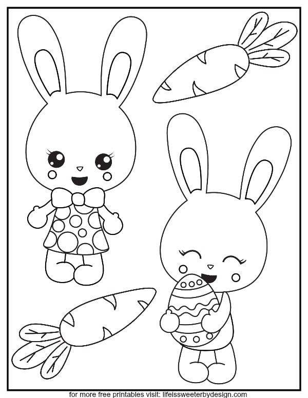 bunny color life is sweeter by design coloring paper spinners for kids creyon sagrada coloring pages Bunny Coloring Page
