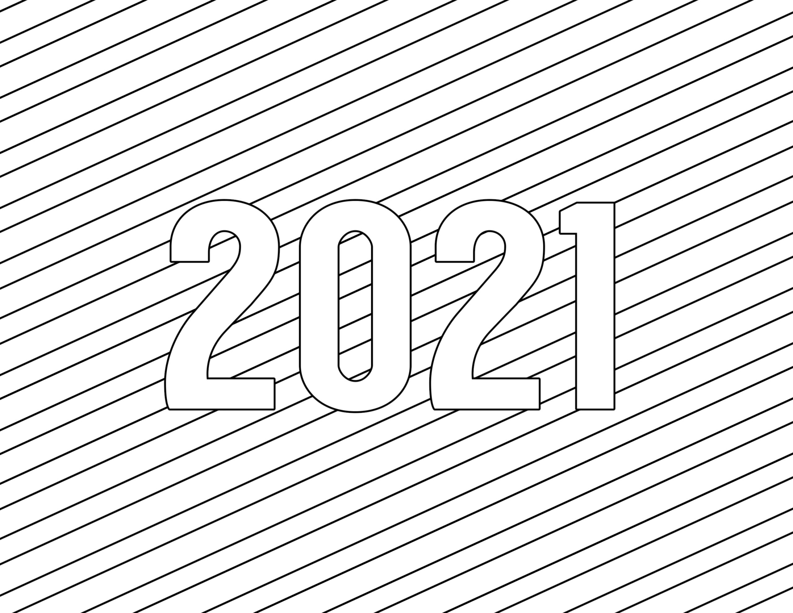 calendar new year for coloring happy kids and adults paper pencil crayon pics chalk coloring pages 2021 Coloring Page