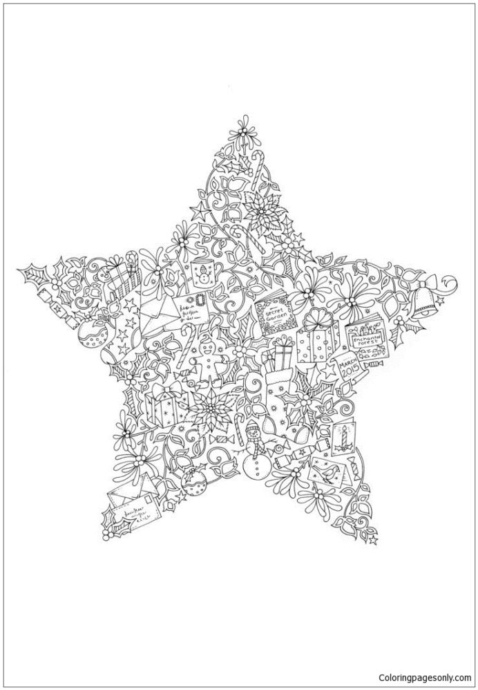 christmas star coloring for kids and adults star00 caterpillar game marvel travel sketch coloring pages Christmas Star Coloring Page