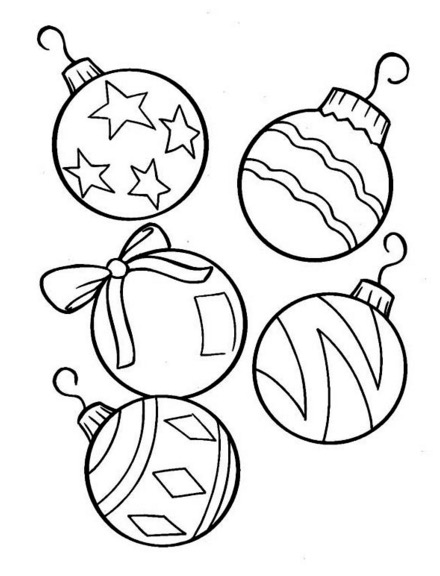 christmas tree ornaments coloring book for kids ornament paint color pumpkin cut out does coloring pages Ornament Coloring Page