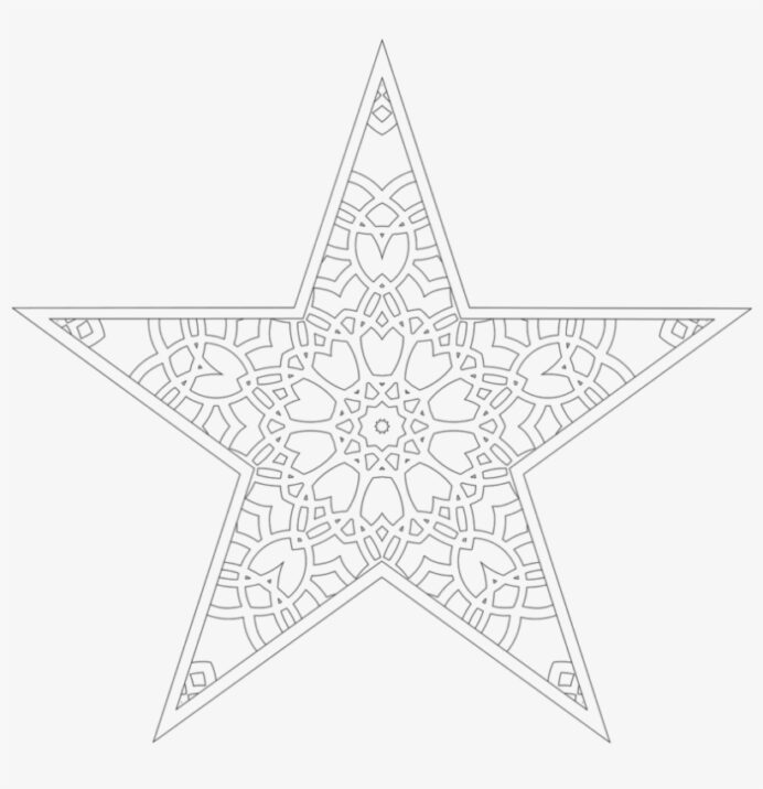 christmas tree star coloring line art free transparent pngkey paw print kit super coloring pages Christmas Star Coloring Page