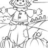 coloring autumn scene with scarecrow red violet pastesl adult castle crayola scribble coloring pages Scarecrow Coloring Page