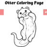 coloring book for kids otter grafik von mybeautifulfiles creative fabrica graphics coloring pages Otter Coloring Page