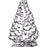 coloring christmas tree cards to color for halloween sign skull bones sheet crayon box coloring pages Coloring Page Christmas Tree