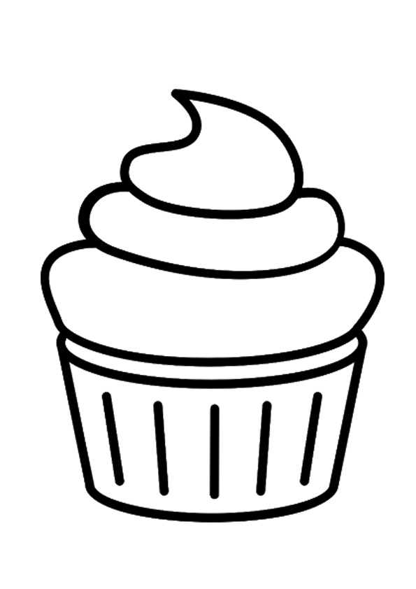 coloring cupcake for kids free printable ears template universal crayola easter bunny coloring pages Cupcake Coloring Page