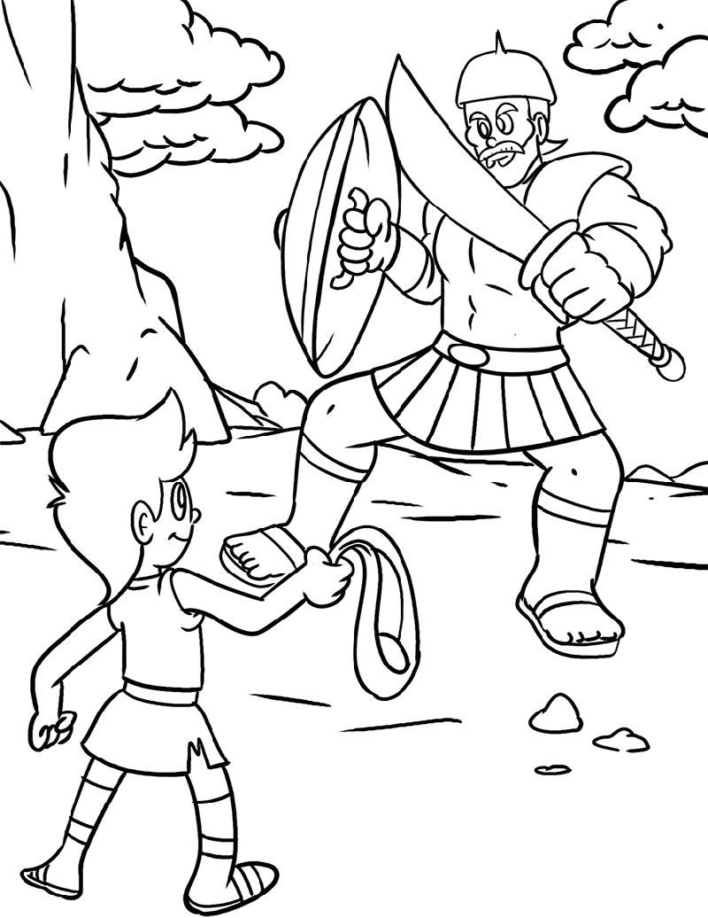 coloring david and goliath craft remove pencil from tile free fun christmas pretty sky coloring pages David And Goliath Coloring Page