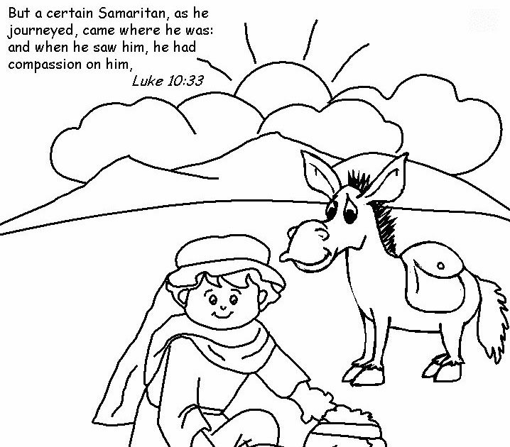 coloring good samaritan pictures to colour perwinkle color remove paint from mirror coloring pages Good Samaritan Coloring Page