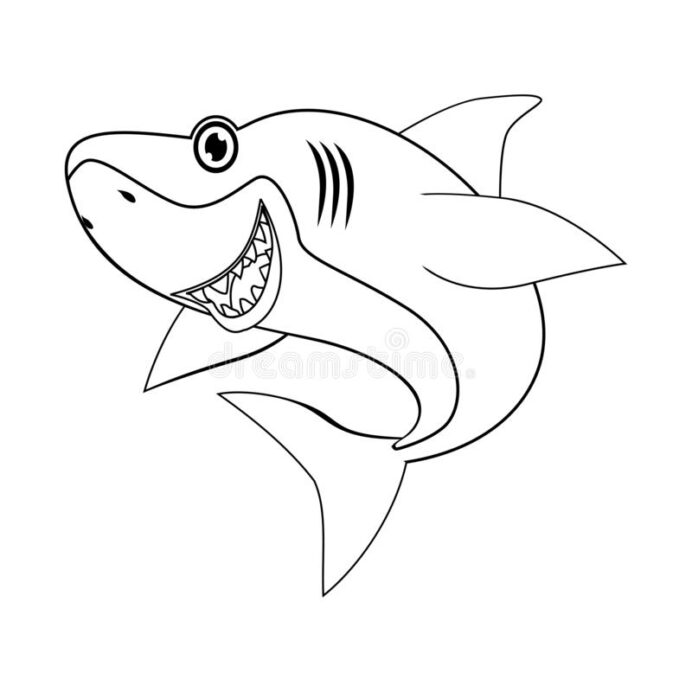 coloring of shark stock vector illustration to help children learn more creative coloring pages Shark Coloring Page