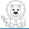 coloring outline of cute lion book for kids stock vector illustration leisure color coloring pages Lion Coloring Page