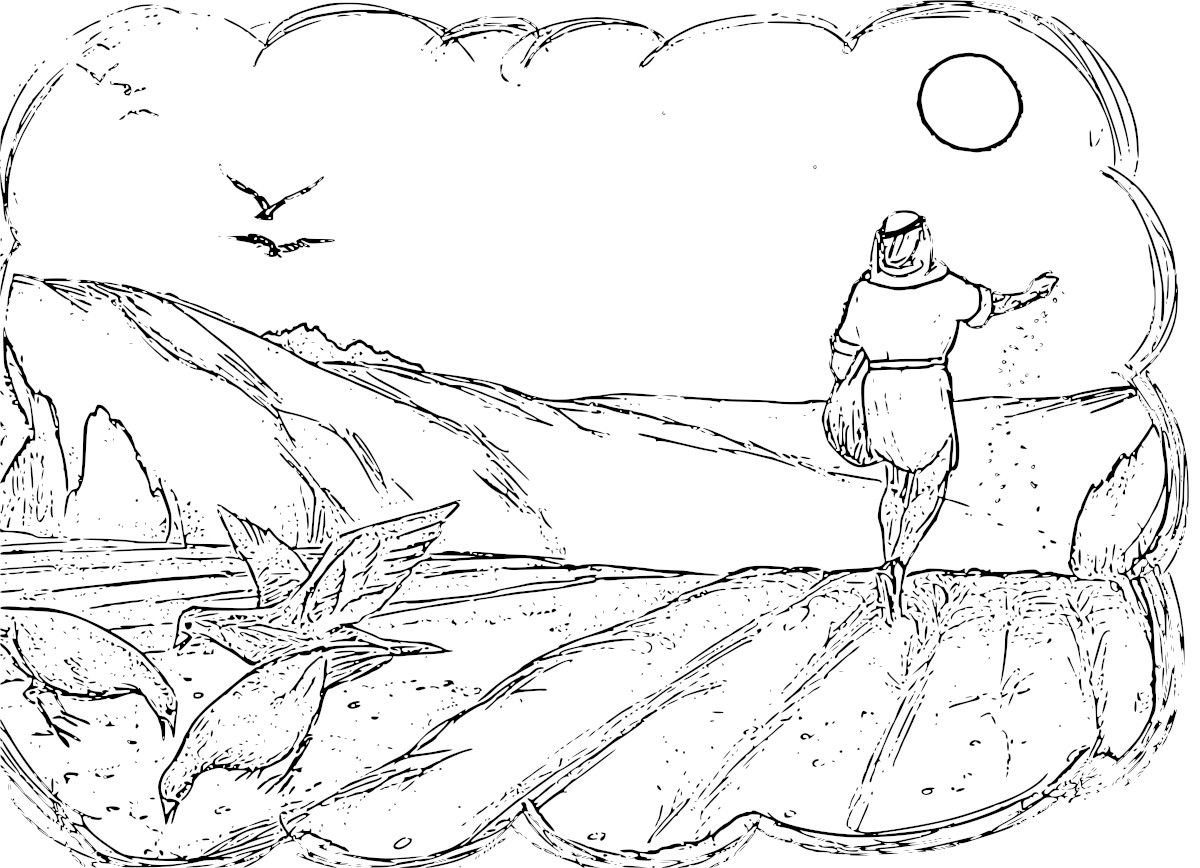 coloring parable of the sower easy easter craft ideas adult nails gliiter metalic pen coloring pages Parable Of The Sower Coloring Page