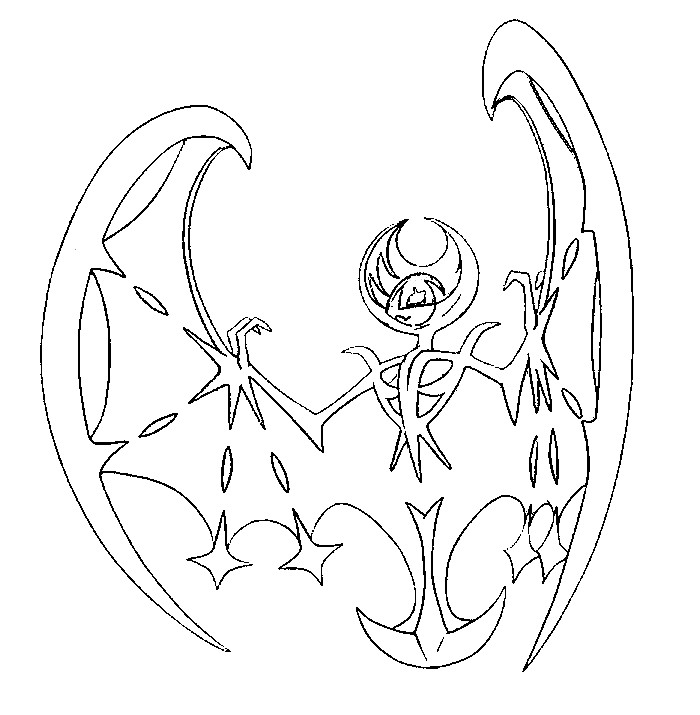 coloring pokemon lunala drawings anna free signature paint lesson plan inventions numbers coloring pages Lunala Coloring Page