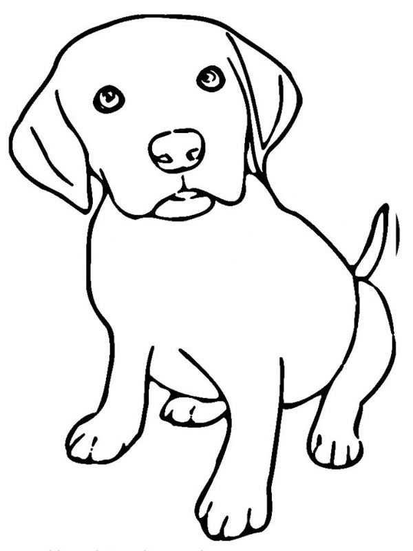 colouring puppy coloringpage coloring tempera paint ink resist deep sea detectives coloring pages Puppy Coloring Page