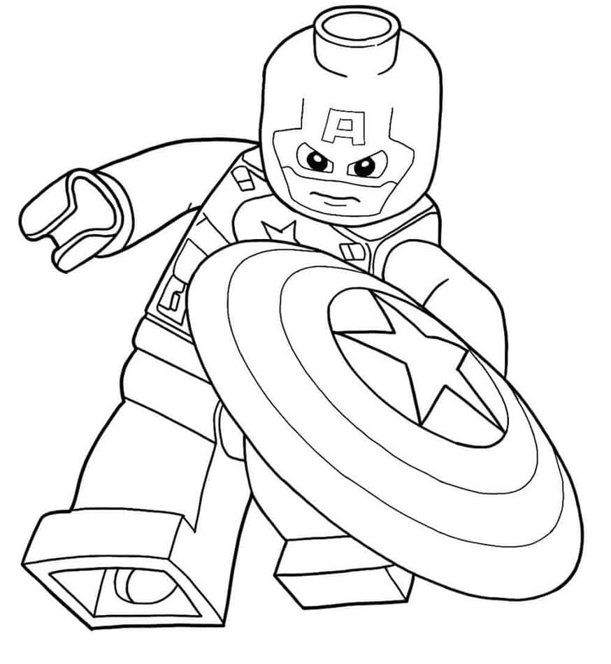 cool lego captain coloring free printable for kids pumpkin thanks giving images five coloring pages Captain America Coloring Page