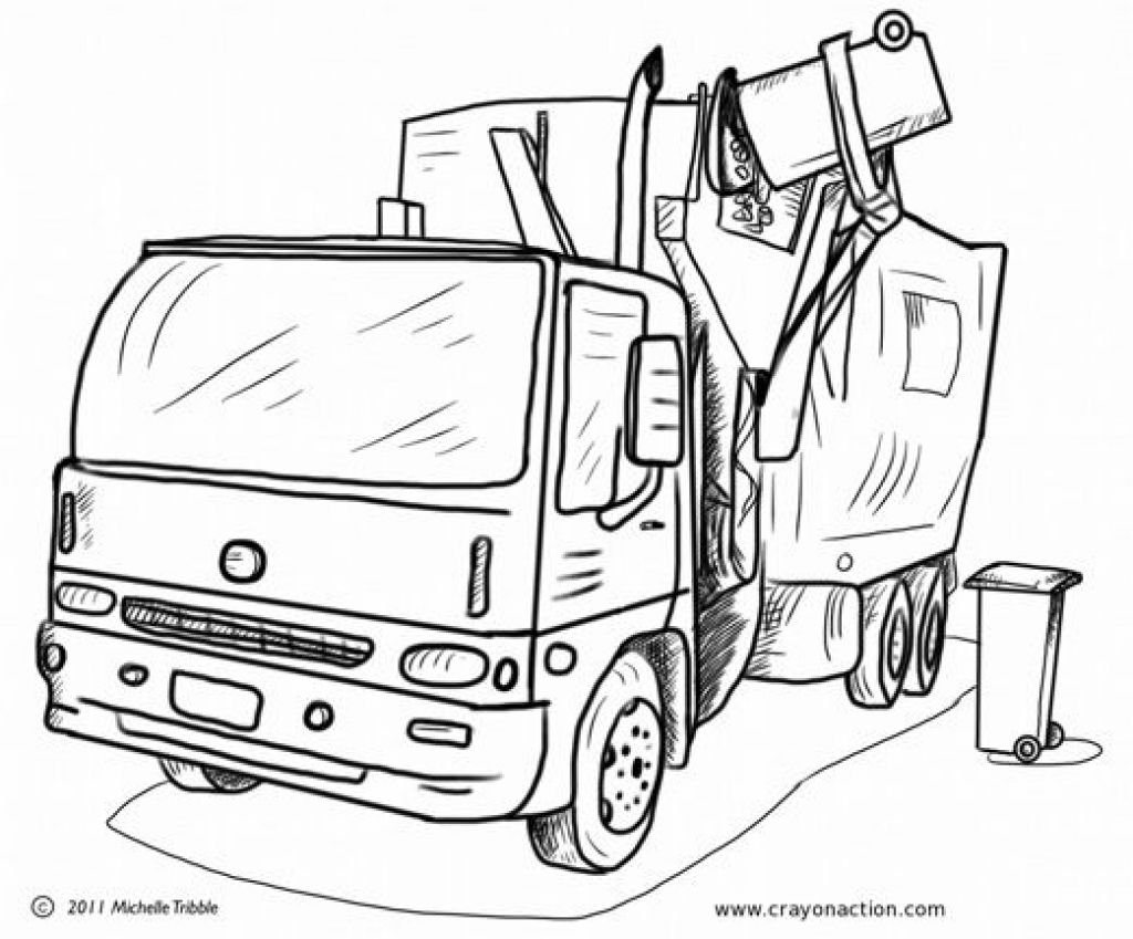 could have 2nd arm to steam clean trash container or truck follow make hydrogen fuel from coloring pages Garbage Truck Coloring Page