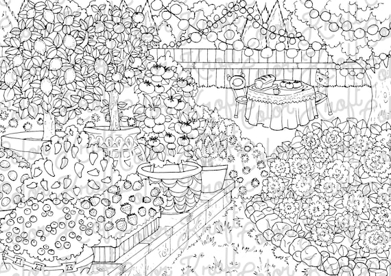 country coloring printable digital etsy il 570xn kqg0 hanukkah sheets people colored coloring pages Garden Coloring Page