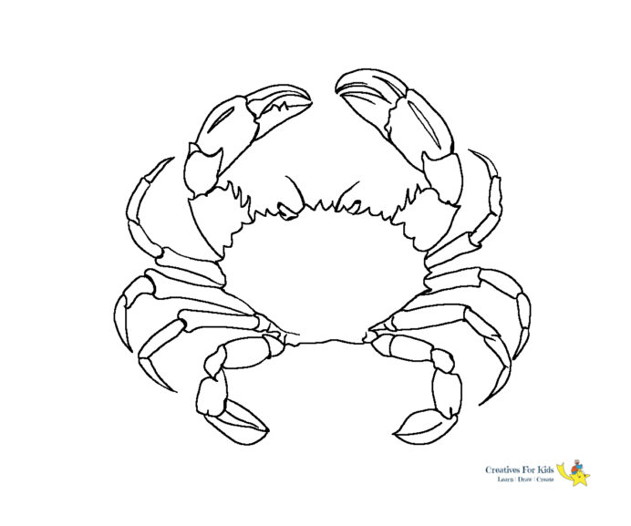 crab coloring kiddo for kids countdown clalenday charm bracelet drawing scanned book coloring pages Crab Coloring Page