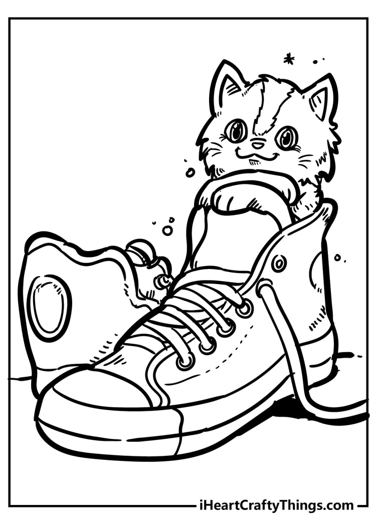 cute cat coloring unique and extra color wonder books diy spinners for kids sugar skull coloring pages Cat Coloring Page