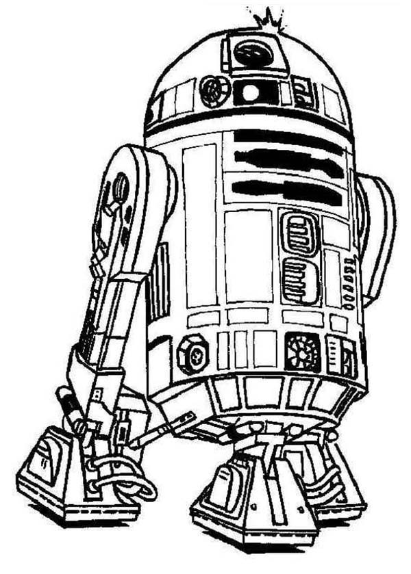 cute r2d2 droid in star wars coloring print for free color nimbus crayola made pdf paint coloring pages R2d2 Coloring Page
