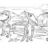 dinosaur friends coloring kids pbs for parents dinosaurfriends mezz you ve been booed coloring pages Coloring Page Dinosaur