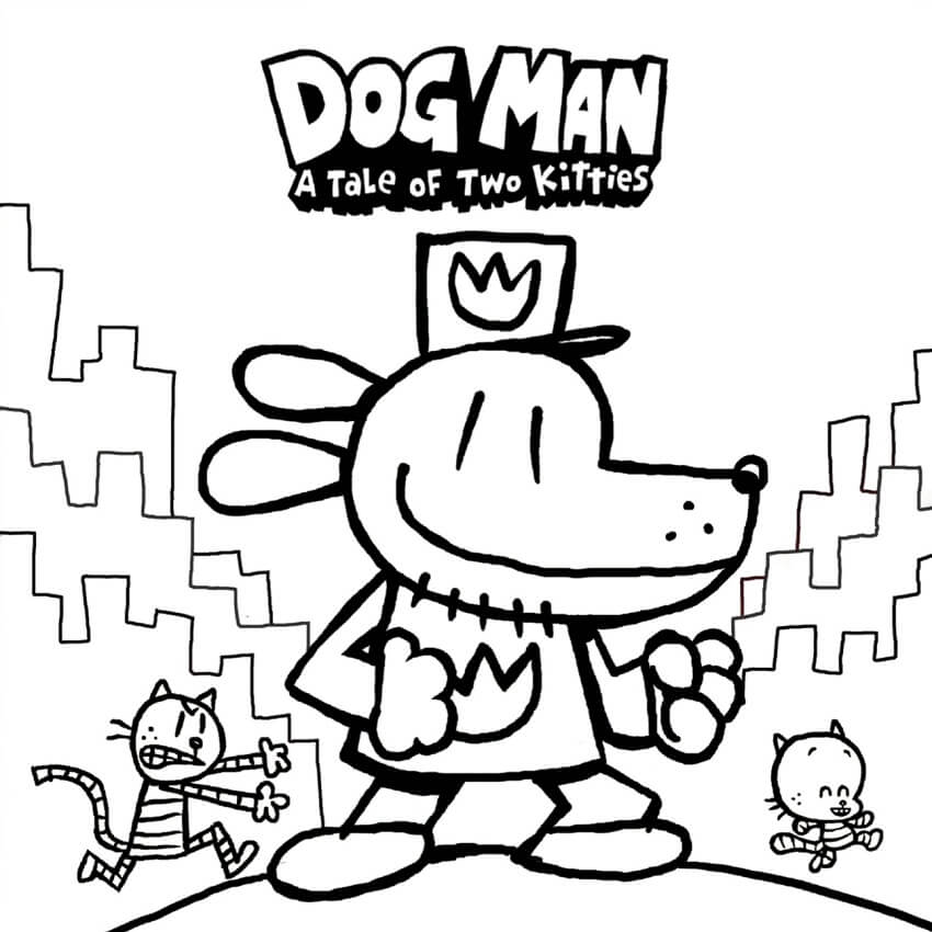 dog man coloring free printable for kids aawesome celestial crayola red v2 sugar skull coloring pages Coloring Page Dog