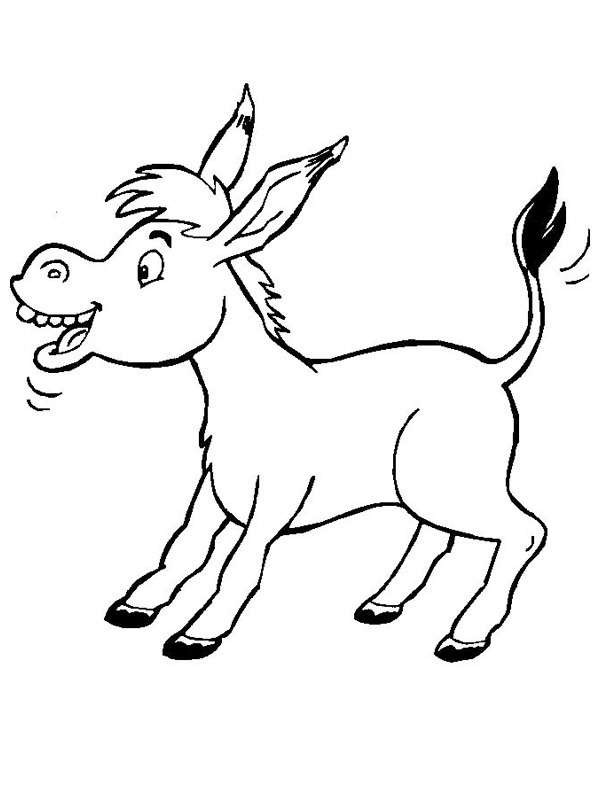 donkey coloring 1001coloring ezel dots and spots project pastel highlighters printable coloring pages Donkey Coloring Page