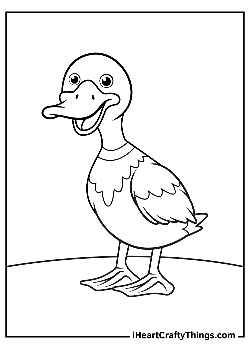 duck coloring updated ducks shamrock printouts bold and bright not crayons pusheen llama coloring pages Duck Coloring Page