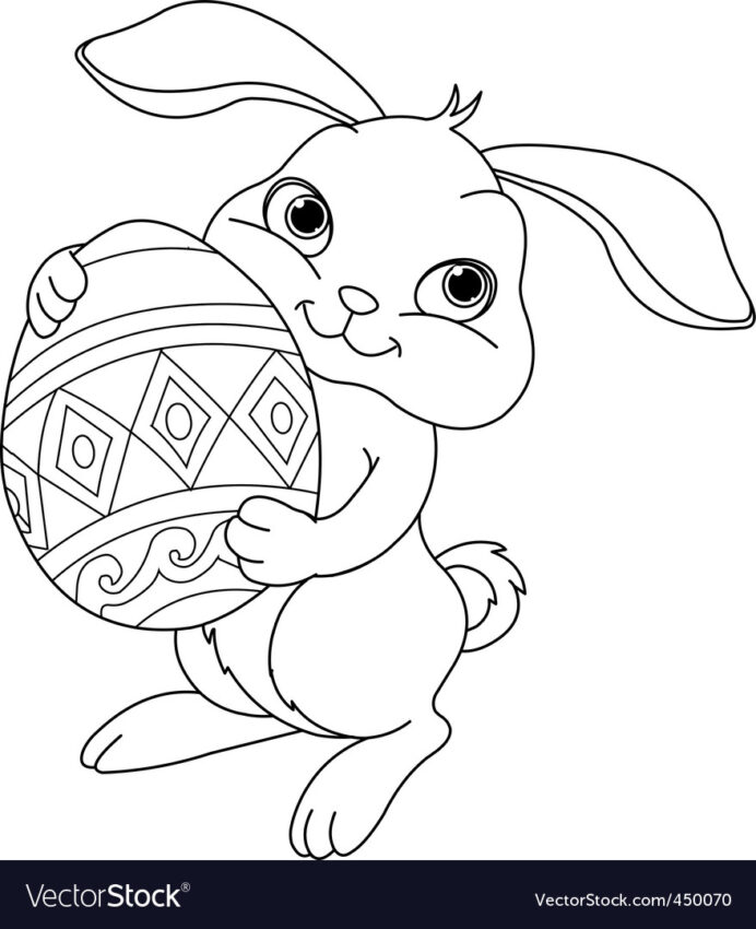 easter bunny coloring royalty free vector image zombie pictures to color cool coloring pages Easter Bunny Coloring Page