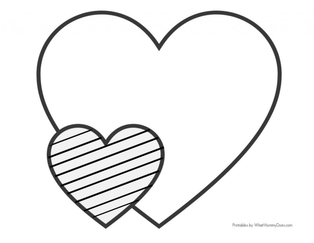 easy heart coloring for kids stripe patterns mommy does 1024x791 uv colored pencils coloring pages Heart Coloring Page