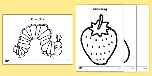easy to colour pictures the very hungry caterpillar catepillar coloring colouring sheets coloring pages Catepillar Coloring Page