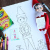 elf on the shelf coloring for kids and elves sheet easter egg decorating kit ninja turtle coloring pages Elf Coloring Page