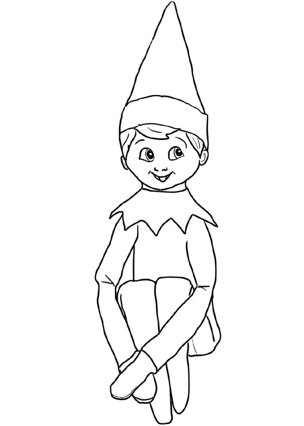 elf pictures to colour and print doraemon on the shelf coloring zombie for shopkin coloring pages Elf On The Shelf Coloring Page